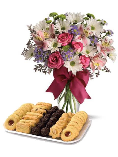 biscotti da the con fiori misti di stagione